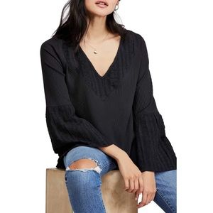 NWT Free People Parisian Nights Thermal Lace Top